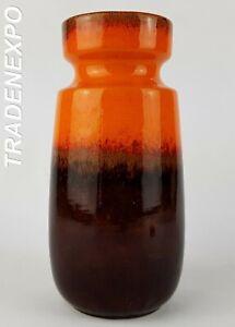 Vintage-1970s-SCHEURICH-KERAMIK-Fat-Lava-Vase-242-22-West-German-Pottery-Retro