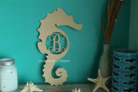 18 Wooden Seahorse Letter Unfinished Wood Letter Room Decor Custom 18in