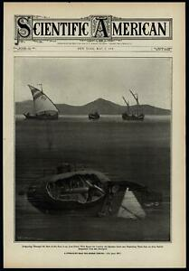 early-submarines-sponge-fishing-1908-Scientific-American-cover-print