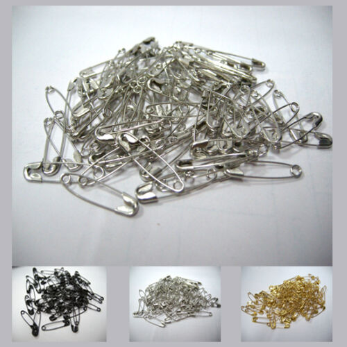 Small Safety Pins 0.7/'/' Metal Sewing Craft Mini Brooch Pins Pack 3 color