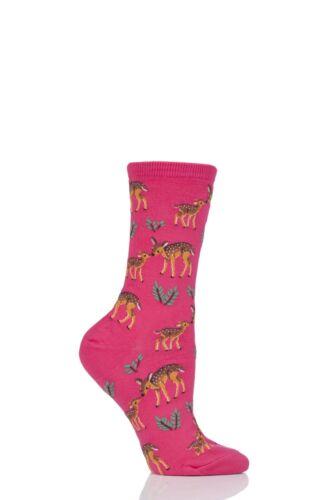 Ladies 1 Pair HotSox Mother Deer Cotton Socks