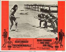 THUNDERBALL orig lobby card movie poster JAMES BOND/MARTINE BESWICK/SCUBA DIVING