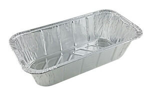 Handi-Foil-1-3-Third-Size-Deep-Aluminum-Foil-Steam-Table-5-lb-Loaf-Pan-100-PK