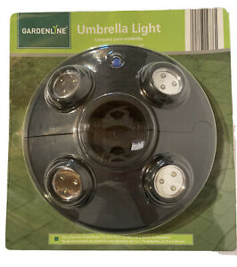 Umbrella Light With LED Lights includes 3 AA Batteries Gardenline BRAND NEW!!