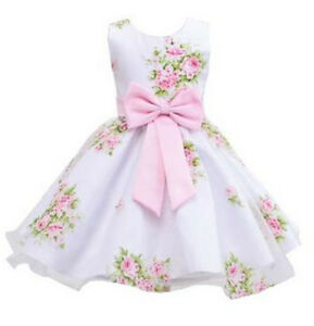 Kids Baby Floral Occasion Party Princess Prom Pageant Wedding Flower Girls Dress
