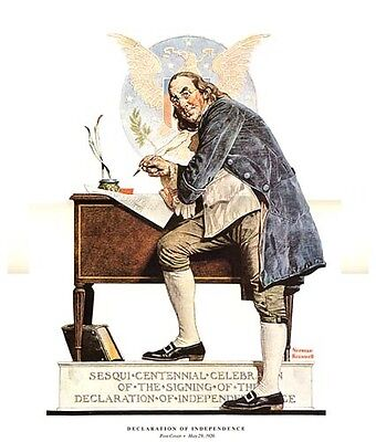 Norman Rockwell Print DECLARATION OF INDEPENDENCE