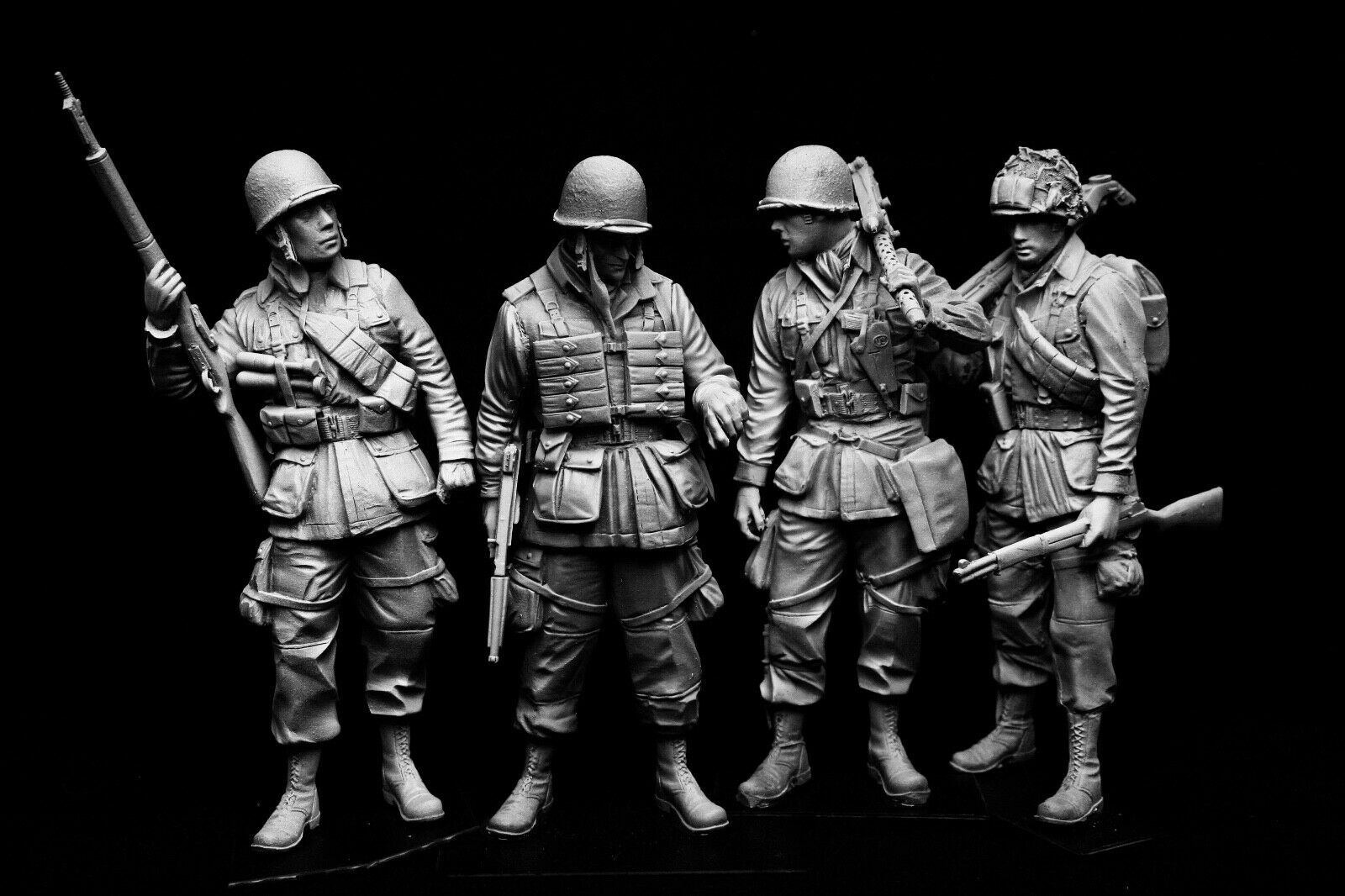 120mm 1 16 WWII USA Airborne, skulpterad av Maurice Corry