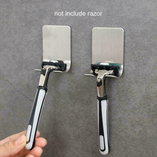 Shaver Shelf Razor Holder Made of Stainless Steel Self-Adhesive Z1B5