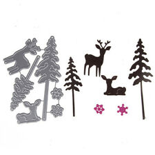 Lovely Deer and PineTree Cutting Dies Embossing Stencil Scrapbooking Album CrPPB