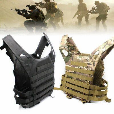 Tactical Military Weste Paintball Airsoft Kampf Angriff Weste Einstellbar Vest #