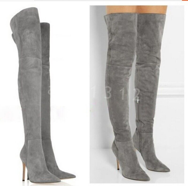 Hot Women's Point Toe Stiletto Nightclub Over The Knee Knee Knee Boots Thigh High shoes c02ff0