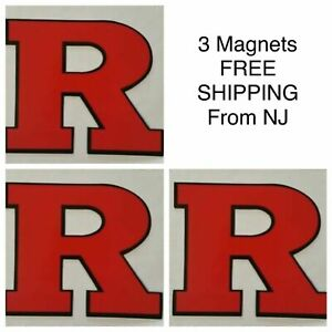 RUTGERS BASKETBALL VEHICLE MAGNET LOT 3X FOOTBALL & WRESTLING - GREG SCHIANO WOW