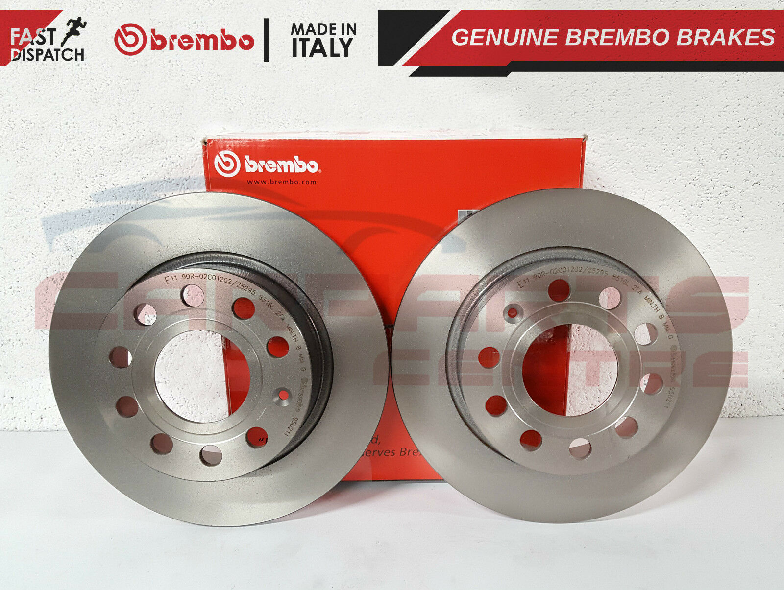 For VW Jetta 05-10 Rear Brake Rotors w// Pads Brake Kit Brembo OEM