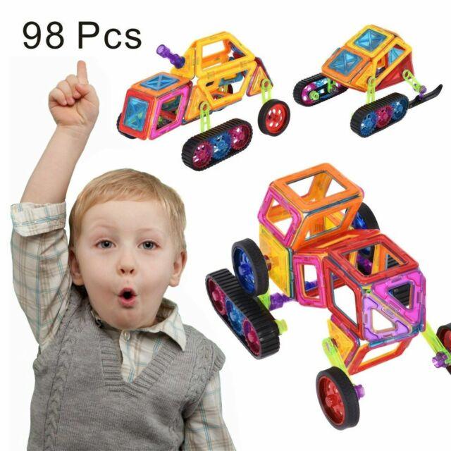 Magical 98Pcs Magnet Building Blocks Educational Toys For Kids Colorful Gift Set