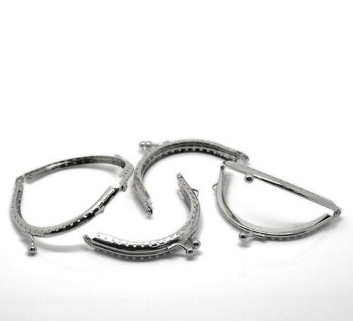 Wholesale Lots Silver Tone Purse Bag Metal Arch Frame Kiss Clasp Lock 9x6.3cm