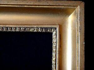Ancien-cadre-en-bois-dore-a-cle-40x32-old-wooden-frame-XIX