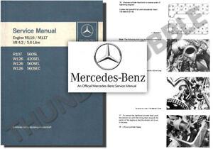 mercedes m116 m117 v8 service workshop repair manual r107. Black Bedroom Furniture Sets. Home Design Ideas