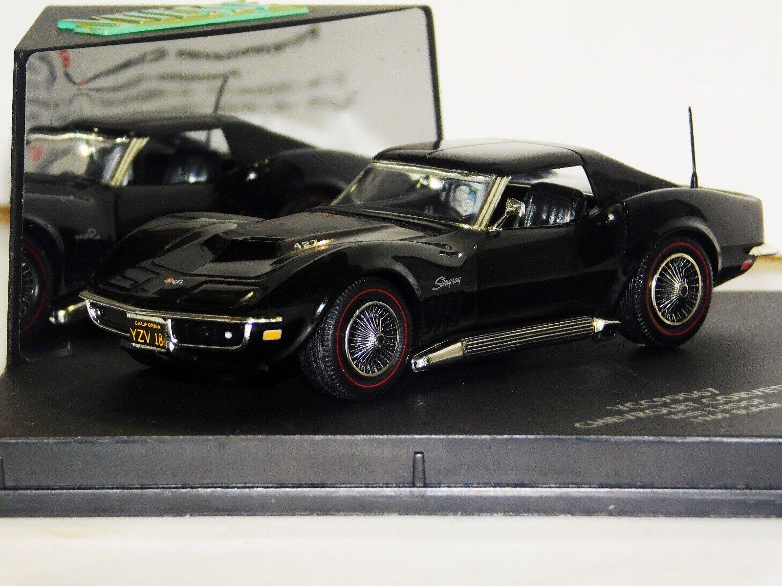 nuevo sádico Chevrolet Corvette Corvette Corvette Con T-techo negro 1969 controlador Vitesse VCC99067 1 43  suministramos lo mejor