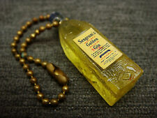 Vintage Seagrams Golden Gin Minature Bottle Key Chain Fob Older Style