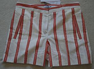 6uk Bnwt 8 di Flour adatta lino Trianon rosa Lacoste si Stripe casual Pantaloncini rw4Oqxzpr