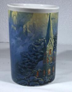 Thomas Kinkade 2008 Coffee Mug Winter At Mountain Chapel Christmas