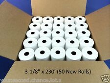 """BUY 9 GET 1 FREE • Case of 50 New Rolls 3-1/8"""" x 230' Thermal Receipt Paper POS"""