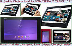 2x-Protection-ecran-transparente-Film-Tablette-De-Sony-Xperia-Z2-10-1-Ultra