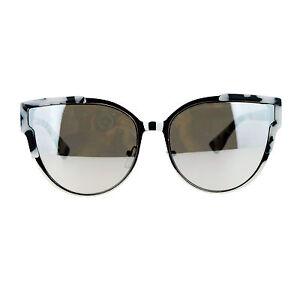SA106 Metal Outline Mirror Lens Retro Vintage Half Rim Sunglasses