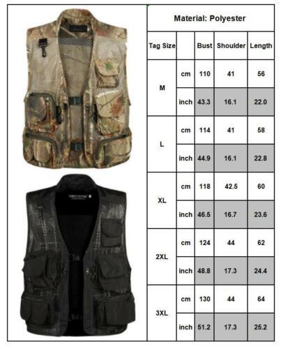 Men Fishing Waistcoat Safari Gilet Jacket Hunting Camping Coat Military Vest