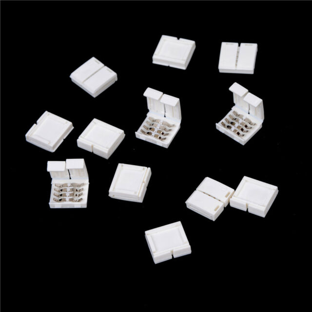 10PCS 4-PIN RGB Connector Adapter For 5050 RGB LED Strip Solderless 10mm#Cei MER