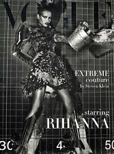 VOGUE UNIQUE 09/2009 EXTREME COUTURE Rihanna JOURDAN DUNN Frida Gustavsson @EXCL