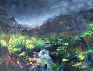 ORIGINAL PAINTING  Acrylic On Canvas 40x30cm 'Silent'Valley