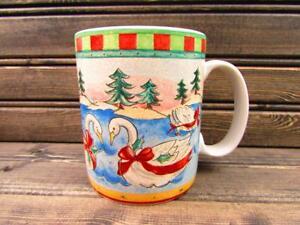 Twelve-Days-of-Christmas-by-222-Fifth-SWANS-SWIMMING-Coffee-Mug