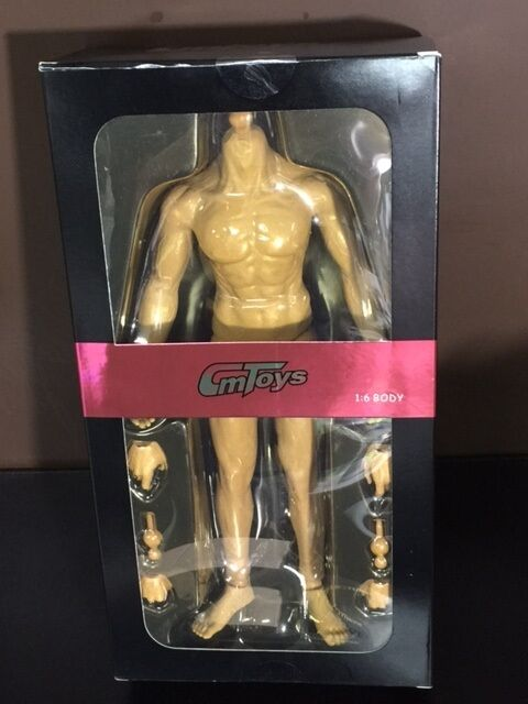 CMTOYS HJ001 1 6 Skin color Rubber Layer Muscular Body Fit 12  HT Male Figure