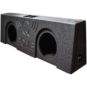 "Qpower QBTRUCK210V Qbomb Dual 10"" Vented Empty Box Behind Seat Mount"