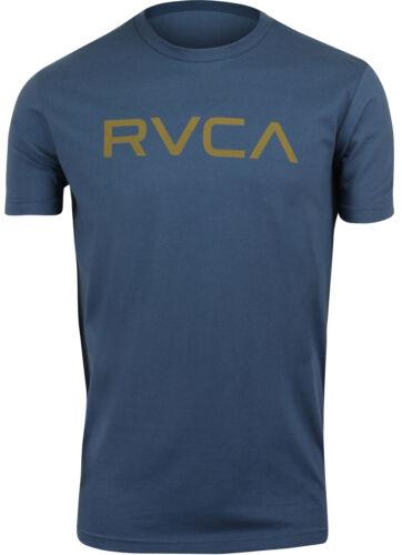 RVCA Mens Sport Big RVCA Mens T-Shirt Dark Denim Blue//Brown