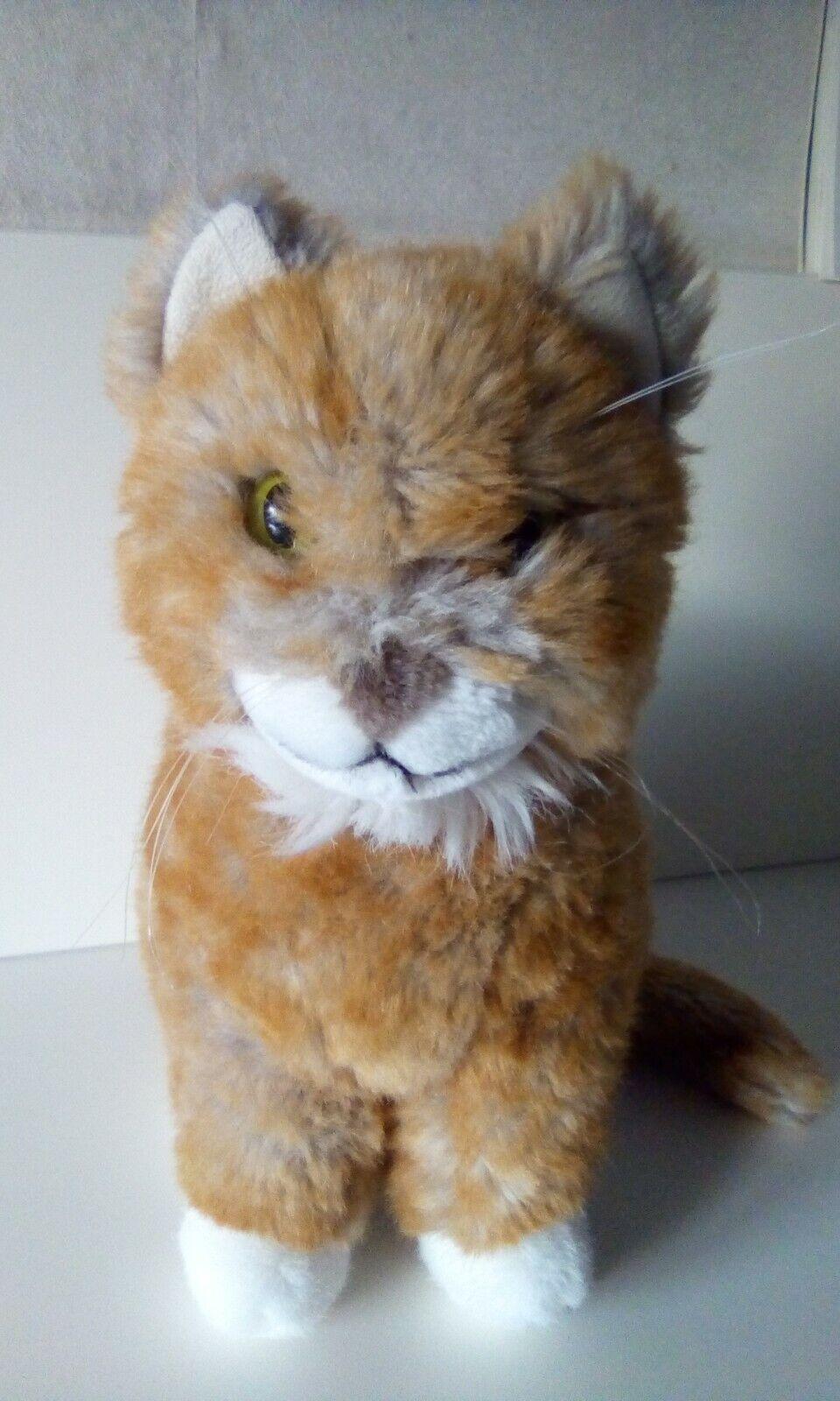 Kösen Katze  sitzend  30 30 30 cm groß rot gestreift  d de9e06
