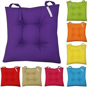 Sitzkissen Für Stuhl sitzkissen stuhl garten küche kissen stuhlkissen klettverschluss