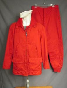6cfc02d6f92 Image is loading Vintage-1960s-Ted-Williams-Red-Hunting-Outfit-Jacket-