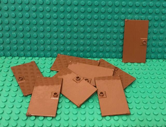 LEGO Parts NEW Pack of 1 Door 1x4x6 with Stud Handle 60616 REDDISH BROWN