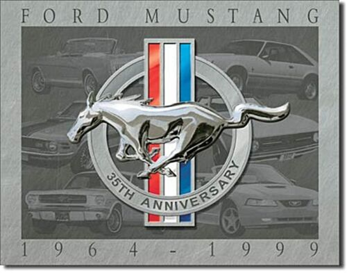 sf Ford Mustang 35th Anniversary Metal Sign  410mm x 320mm