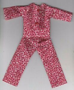 Doll Clothes-Pretty Orange//White Print Pajamas that fit Barbie-Homemade BP1