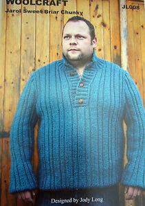 e7e94a2b9 Image is loading Woolcraft-CHUNKY-knitting-pattern-JL008-JAROL-SWEET-BLAIR-