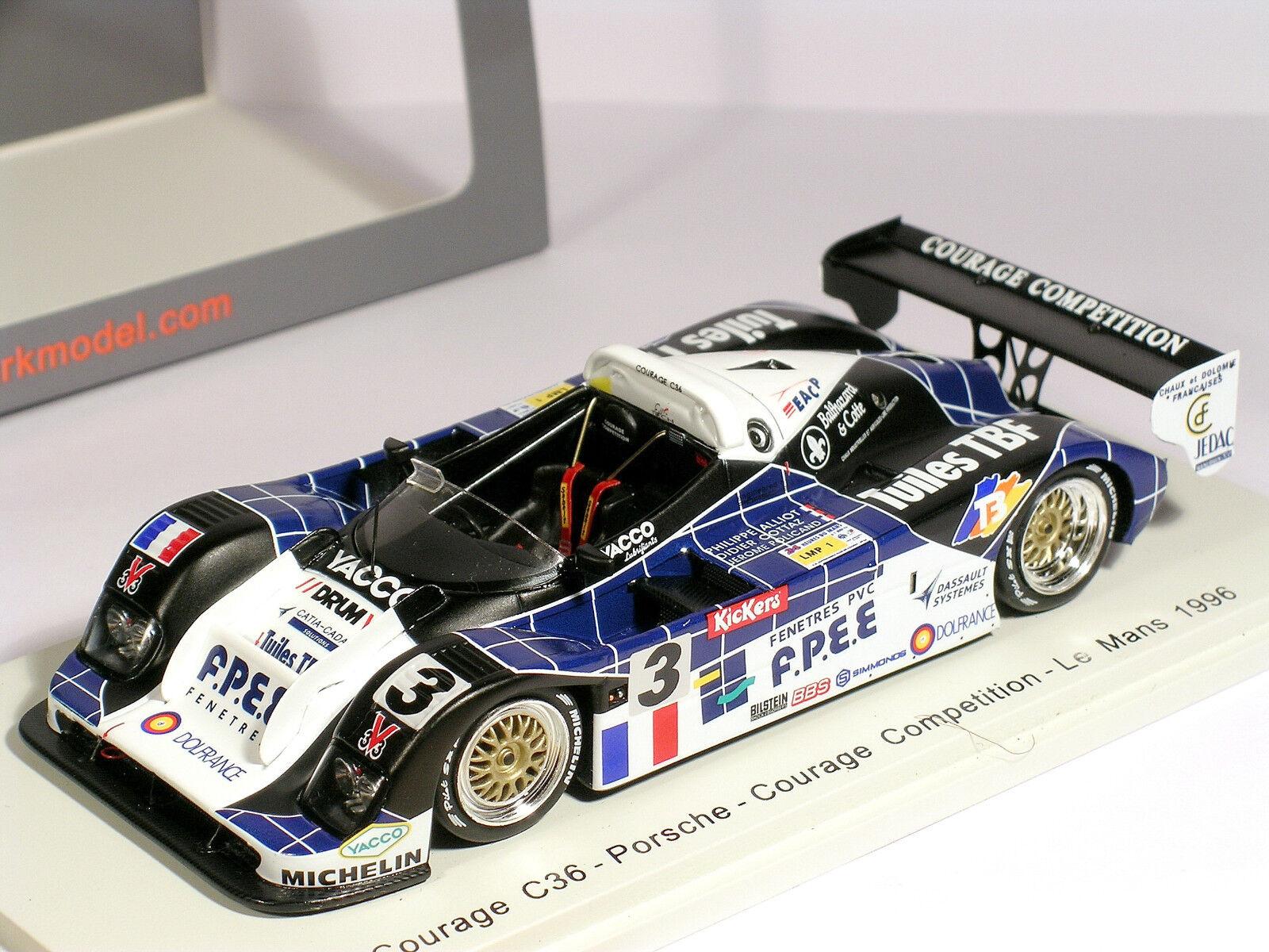 Courage C36  3 FPEE Allliot Cottaz Policand Le Mans 1996 - Spark 1 43 (S4706)