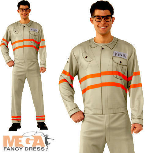 Ghostbusters Kevin Mens Fancy Dress Halloween Movie Movie Movie Film Adults Costume Outfit bb439a