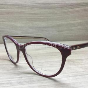 4a6897634c4 Image is loading Christian-Dior-Montaigne-N-17-Eyeglasses-Burgundy-Clear-