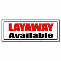 Layaway Available Promotion Business Sign Banner 2' X 4' W/ 4 Grommets