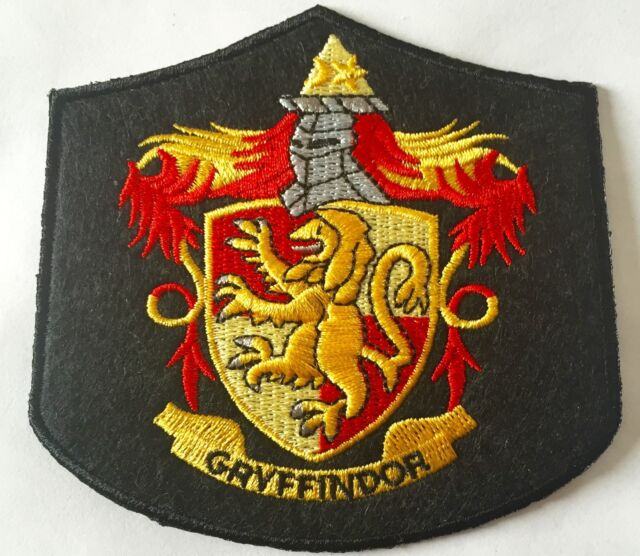 HARRY POTTER  GRYFFINDOR IRON ON EMBROIDERED Size:3.75 inch x 3.5 inch