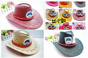One-piece-Portgas-D-Ace-Cosplay-Hat-Cap-Costume-Cowboy-New-Free-Shipping-LESS12