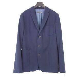 Drykorn-Veste-Hommes-Burley-Taille-48-Bleu-Havana-Tissu-3-Bouton-Np-269-Neuf